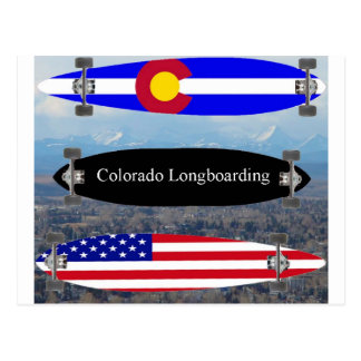 Colorado Longboarding Postcard