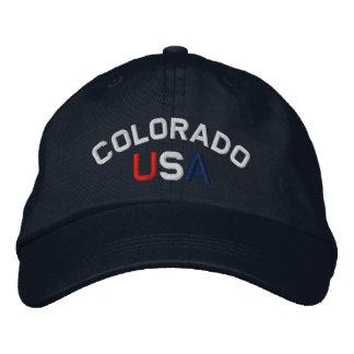 Colorado los E.E.U.U. bordó el casquillo de azules Gorra Bordada