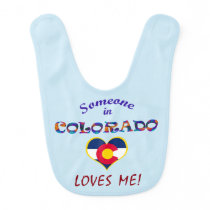 Colorado Loves Me Baby Bib