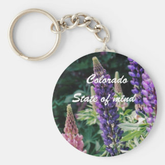 Colorado Lupine, Colorado, State of mind Keychain