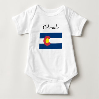 Colorado Map and State Flag Baby Bodysuit