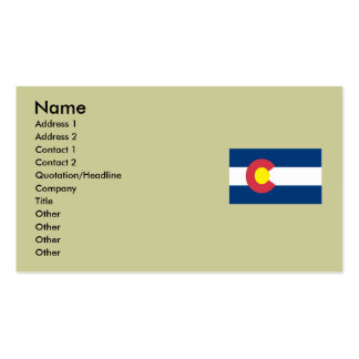 Colorado Map and State Flag Business Card