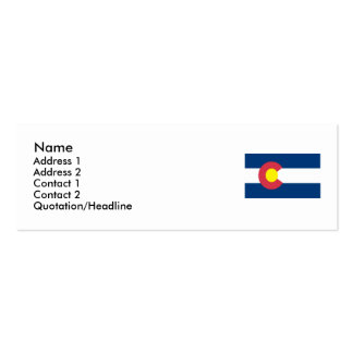 Colorado Map and State Flag Business Card Template