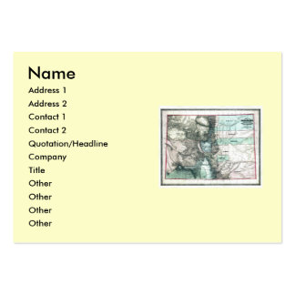 Colorado Map and State Flag Large Business Card