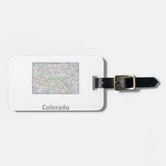 Colorado map bag tag
