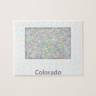 Colorado map jigsaw puzzle