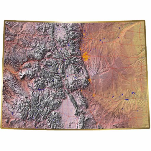 Colorado Map Keychain Cut Out