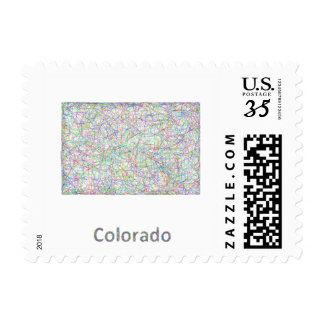 Colorado map postage