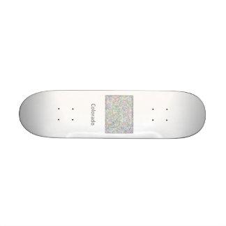 Colorado map skateboard