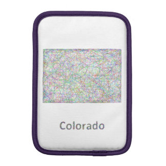 Colorado map sleeve for iPad mini