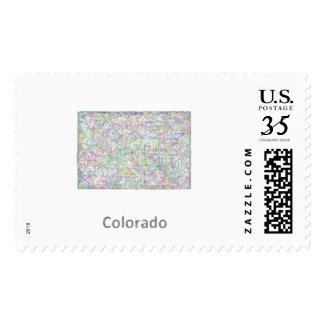 Colorado map stamps