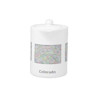 Colorado map teapot