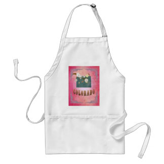 Colorado Map With Lovely Birds Adult Apron