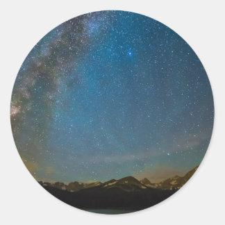 Colorado Milky Way Kinda Night Classic Round Sticker