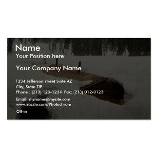 Colorado. Miner's cabin in winter rare Photochrom Business Card Templates