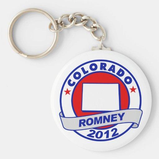 Colorado Mitt Romney Basic Round Button Keychain