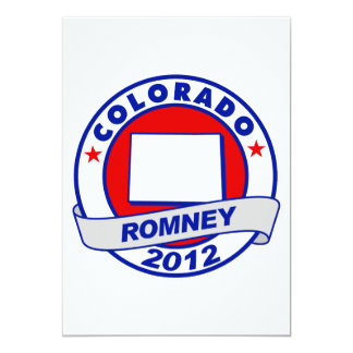 Colorado Mitt Romney 5x7 Paper Invitation Card