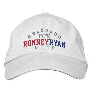 Colorado Mitt Romney Paul Ryan 2012 Embroidered Baseball Cap
