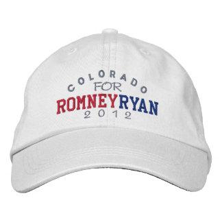 Colorado Mitt Romney Paul Ryan 2012 Embroidered Baseball Hat
