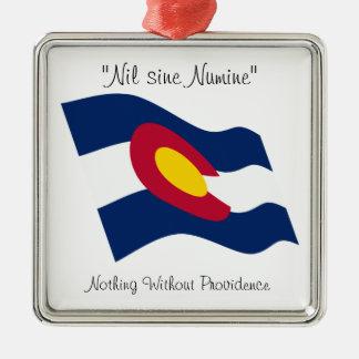 Colorado motto metal ornament