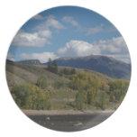 Colorado Mountain Fall Scene Plate