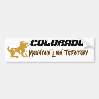 Colorado: Mountain Lion Territory Bumper Sticker