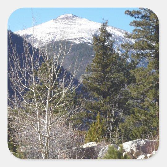 Colorado mountain square sticker