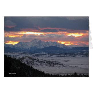 Colorado Mountain Sunset Card