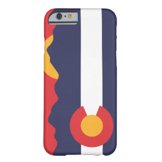 Colorado Mountain Sunset & Flag Case Barely There iPhone 6 Case