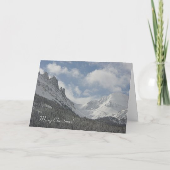 Christmas In Colorado Mountains.Colorado Mountains Christmas Card