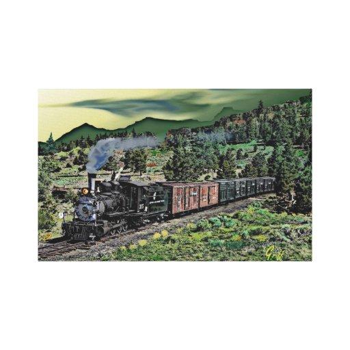 Colorado Narrow Gauge Steamer #315 Canvas Prints