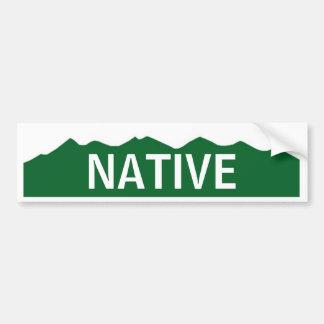 Colorado Native Car Bumper Sticker