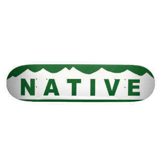 Colorado Native Mountains Skateboard Deck