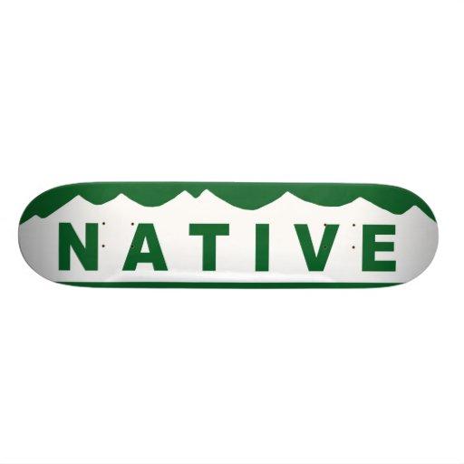 Colorado Native Mountains Skateboard Deck