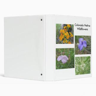 Colorado Native Wildflowers 3 Ring Binder