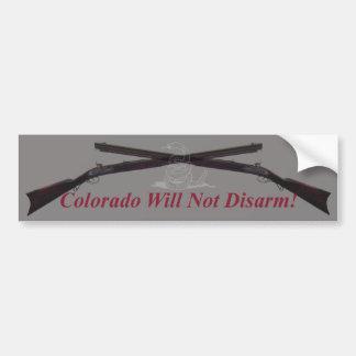 ¡Colorado no desarmará!  Pegatina para el parachoq Pegatina Para Auto