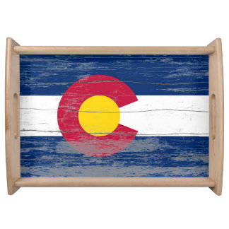 Colorado Old Flag Serving Tray