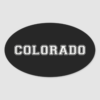 Colorado Oval Sticker