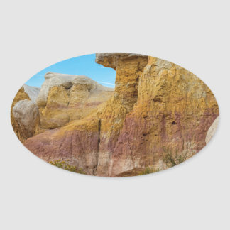 Colorado Paint Mines Formations Oval Sticker