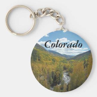 Colorado Paradise Basic Round Button Keychain