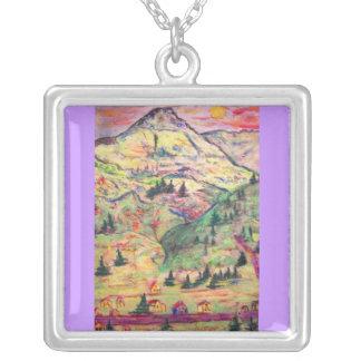 colorado pastel town square pendant necklace