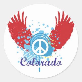 Colorado Peace Round Stickers