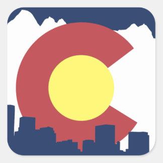 Colorado Pegatina Cuadrada