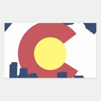 Colorado Pegatina Rectangular