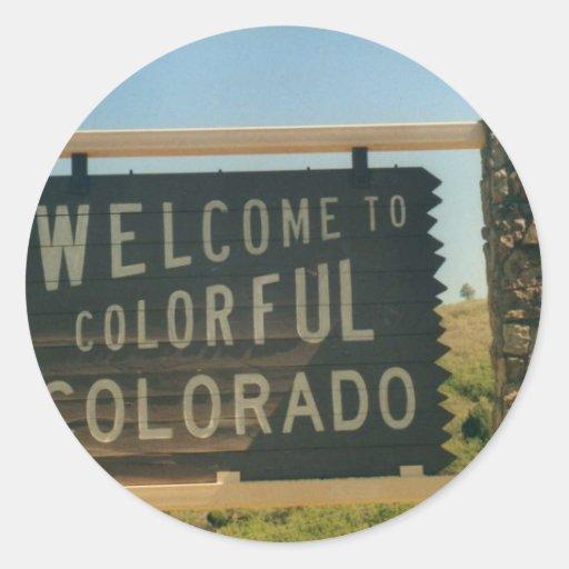 Colorado Pegatina Redonda