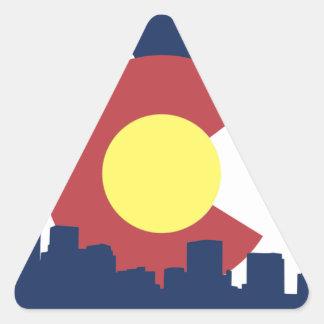 Colorado Pegatina Triangular