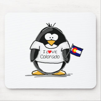 Colorado Penguin Mouse Pad