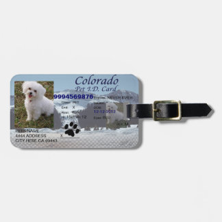 Colorado Pet Id For your Beloved Pet Bag Tag