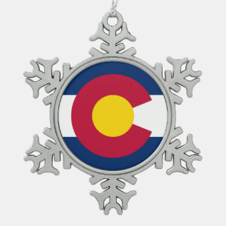 Colorado Pewter Snowflake Ornament at Zazzle