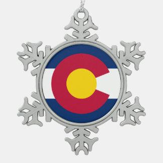 Colorado Pewter Snowflake Ornament
